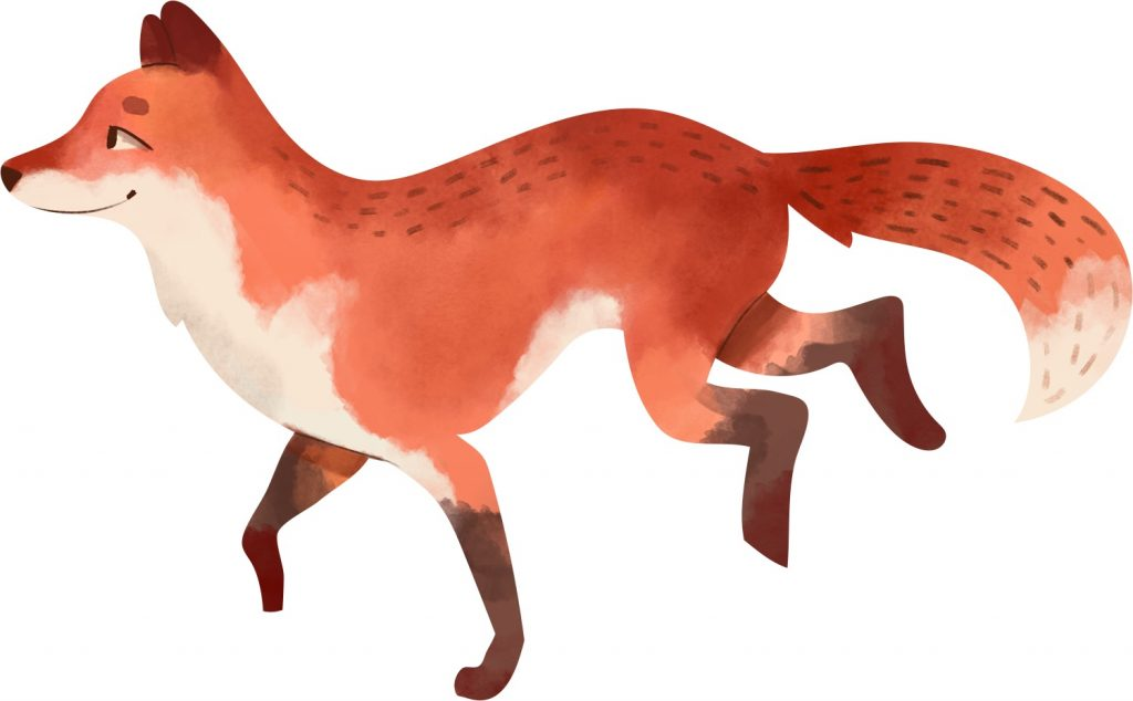 Watercolour Fox
